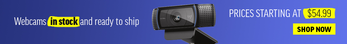 webcams in stock and available to ship